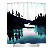 Tree Of Life Digital Paint Effect Shower Curtain
