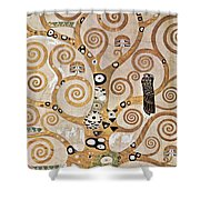 Tree Of Life - Lebensbaum Shower Curtain