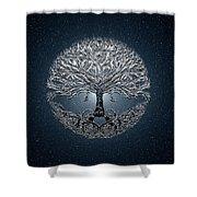 Tree Of Life Nova Blue Shower Curtain
