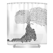 Tree Of Uncertainty Shower Curtain