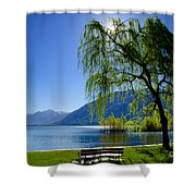 Tree On The Lakefront Shower Curtain