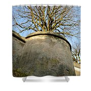 Tree On The Wall Shower Curtain