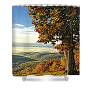 Tree Overlook Vista Landscape Shower Curtain