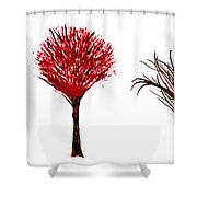 Tree Paintings In Wax Shower Curtain