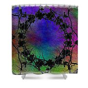 Tree Ring Shower Curtain