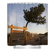 Tree Rock Wyoming Shower Curtain