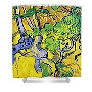 Tree Roots And Tree Trunks Shower Curtain by Vincent Van Gogh