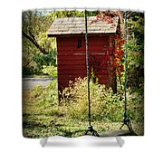 Tree Swing By The Outhouse Shower Curtain
