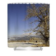 Tree With Barn Shower Curtain