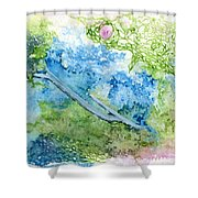 Tree With Rose Shower Curtain