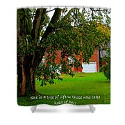 Tree With Scripture Shower Curtain