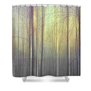 Trees Abstraction Shower Curtain