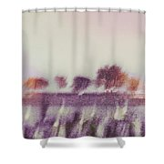Trees Across The River Shower Curtain