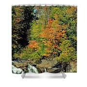 Trees And Falls Shower Curtain
