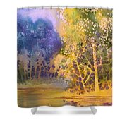 Trees And Water Shower Curtain