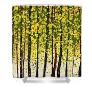 Trees At Twilight Xviii Shower Curtain