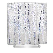 Trees At Twilight Xx Shower Curtain