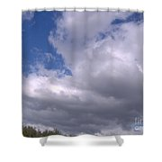 Trees Below The Clouds Shower Curtain
