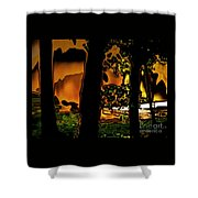 Melted Sunset Abstract Shower Curtain