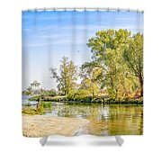 Trees Close To The River Shower Curtain