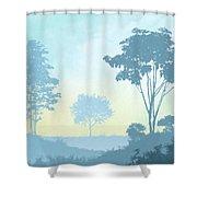 Trees Everywhere Shower Curtain