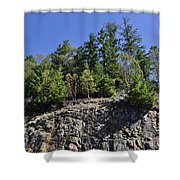 Trees Growing On The Edge Shower Curtain