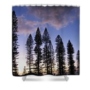 Trees In Silhouette Shower Curtain