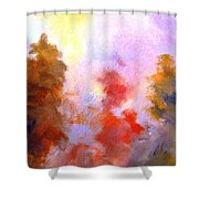 Trees In The Morning Shower Curtain