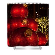 Trees Lights And Ornaments Shower Curtain