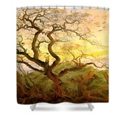 Trees Of Crows Shower Curtain