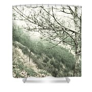 Trees On A Mountain Shower Curtain