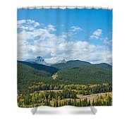 Trees On Canadian Rockies Along Route Shower Curtain