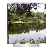 Trees Reflection Shower Curtain