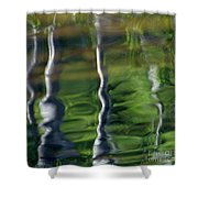 Trees Reflections On The River Shower Curtain