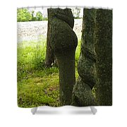 Trees With A Twist Shower Curtain