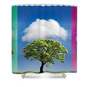 Treetypch Shower Curtain