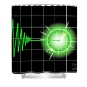 Tremor Black Shower Curtain