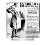 Trench Coat, 1917 Shower Curtain