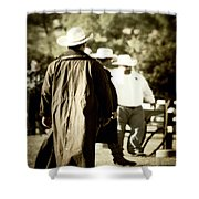 Trenchcoat Cowboy Shower Curtain