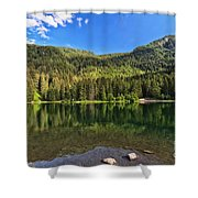 Trentino - Caprioli Lake Shower Curtain