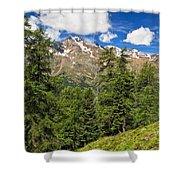 Trentino - Pejo Valley On Summer Shower Curtain