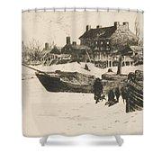 Trenton Winter Shower Curtain by Stephen Parrish