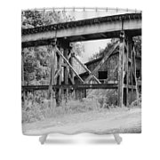 Trestle And Barn Shower Curtain