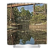 Trestle Over Reflecting Water Shower Curtain