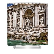 Trevi Fountain In Rome Italy Shower Curtain
