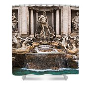 Trevi Fountain Shower Curtain by John Wadleigh