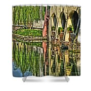 Treviso Canal And Reflections Shower Curtain