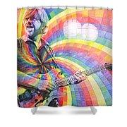 Trey Anastasio Rainbow Shower Curtain by Joshua Morton