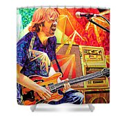 Trey Anastasio Squared Shower Curtain by Joshua Morton