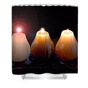 Tri Candles Shower Curtain